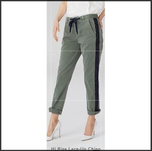 GAP Girlfriend High Rise Lace Up Chinos Sz 00